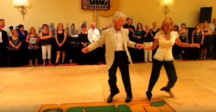 Jackie and Charlie Dancing the Shag Dance at ShagAtlanta in 2013.