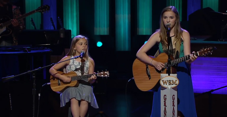 "Lennon and Maisy Sing ""Ring of Fire"" Cover at Grand Ole Opry."