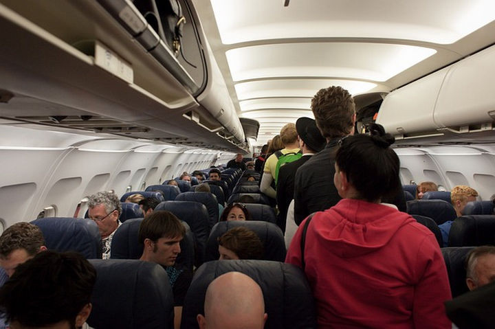 She took an early morning flight at 5:30 AM and the plane was nearly full and everyone was quiet.