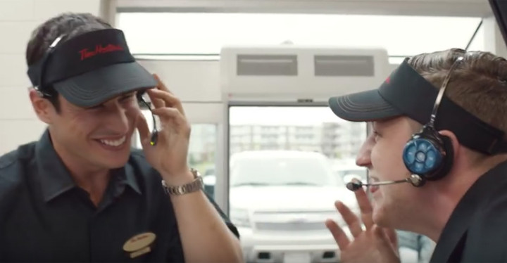 Sidney Crosby and Nathan MacKinnon Work at Tim Hortons.