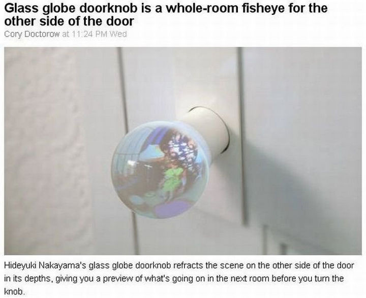 17 Clever Inventions - A doorknob that lets you see inside the room.