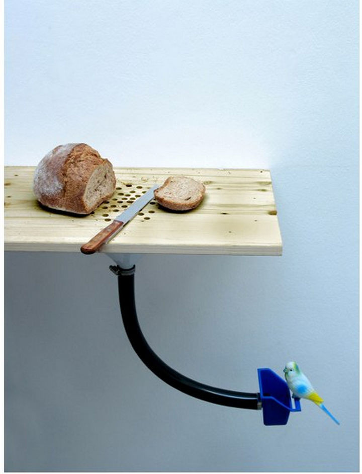17 Clever Inventions - Cutting board bird feeder.