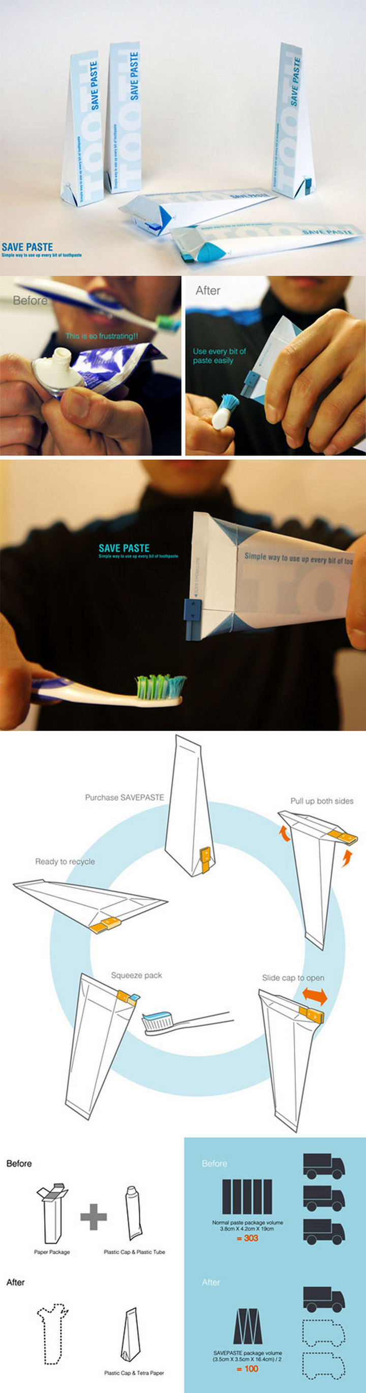 17 Clever Inventions - A brilliant toothpaste tube design.
