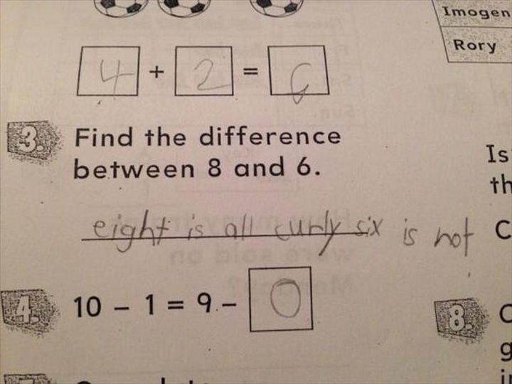 18 Funny Test Answers - In a way, this answer could still be correct.