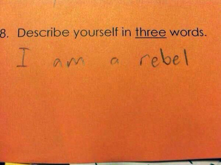 18 Funny Test Answers - This kid is going places.