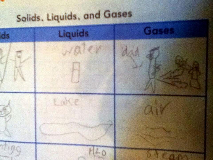 18 Funny Test Answers - Way to go, dad.