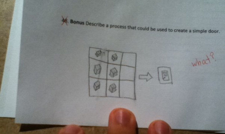 18 Funny Test Answers - Is he playing minecraft?