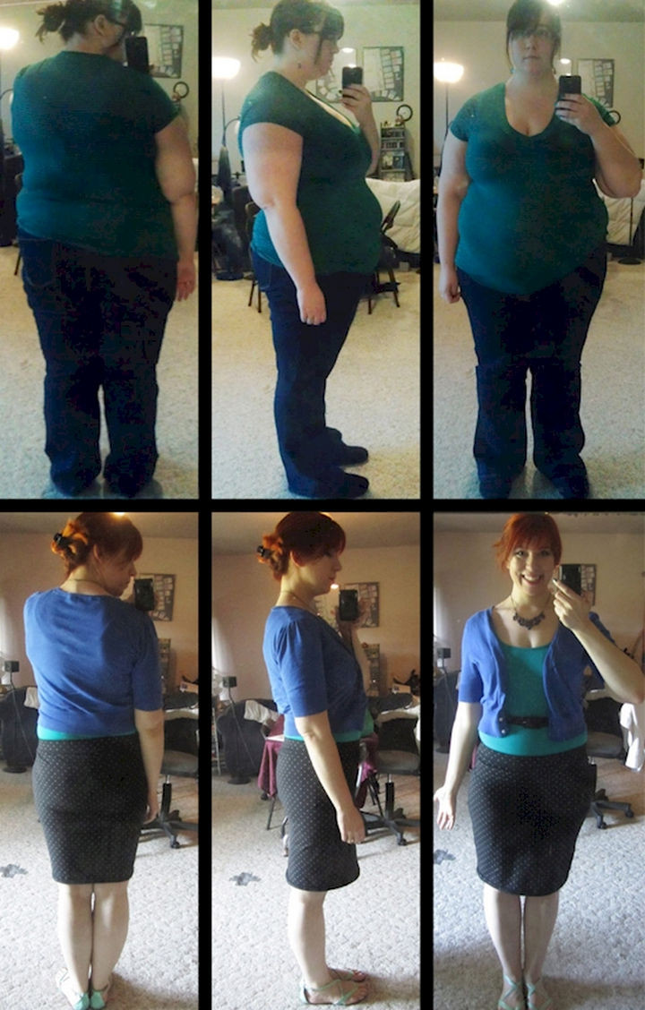18 Before and After Weight Loss Photos - Imgur user jsalsb shed 138 pounds and went from 308 to 170 lbs in 17 months. She looks happier than ever.