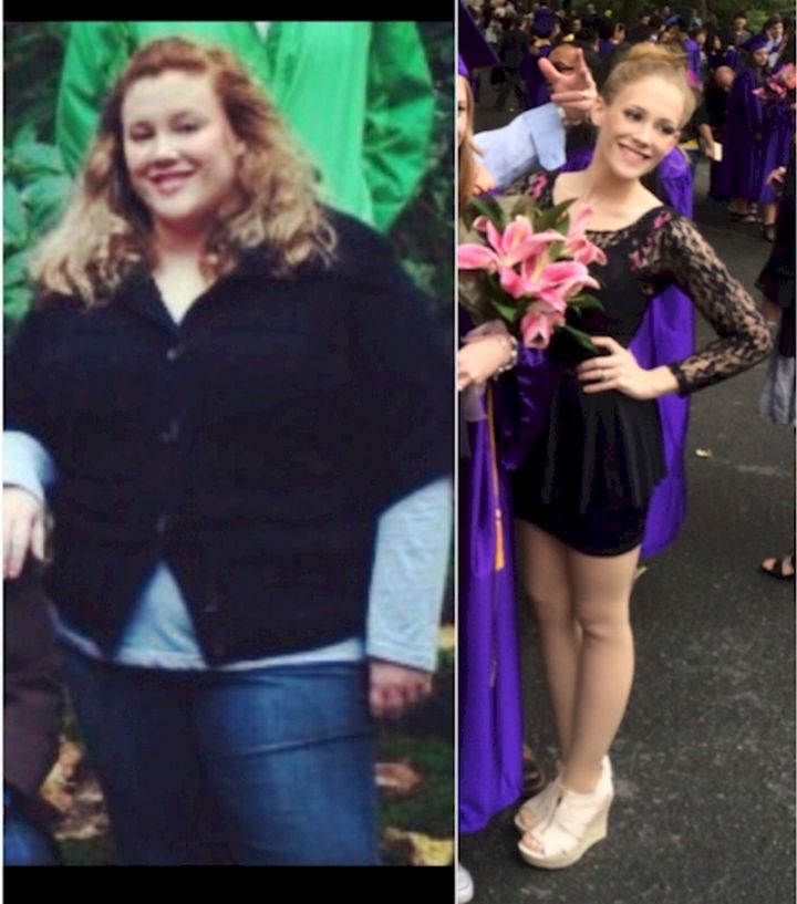 18 Before and After Weight Loss Photos - Reddit user hannahmae1991 went from 261 to 115 lbs and did in less than 2 years. She looks so young now that you could mistake her for the daughter of her former self!