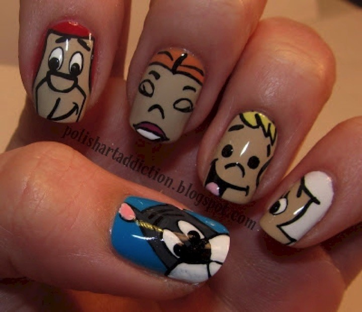 18 Saturday Morning Cartoon Nails - Let's not forget our favorite family of the future, The Jetsons!