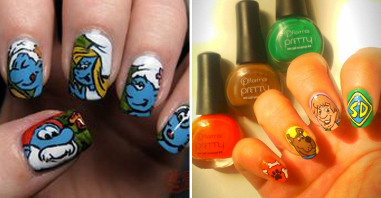 18 Saturday Morning Cartoon Inspired Nail Art Designs.