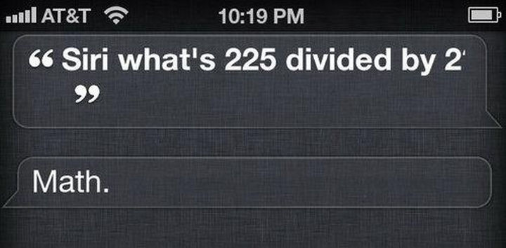 Thanks Siri?