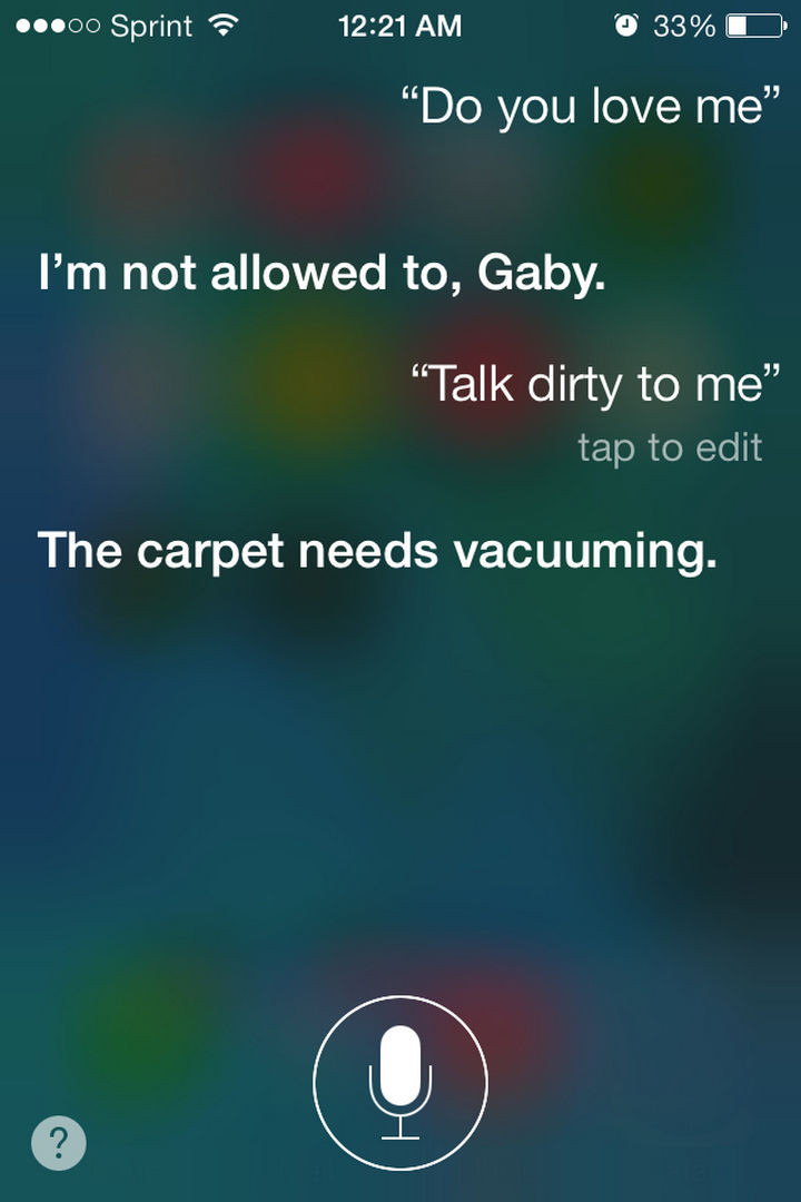Siri also knows how to talk dirty.