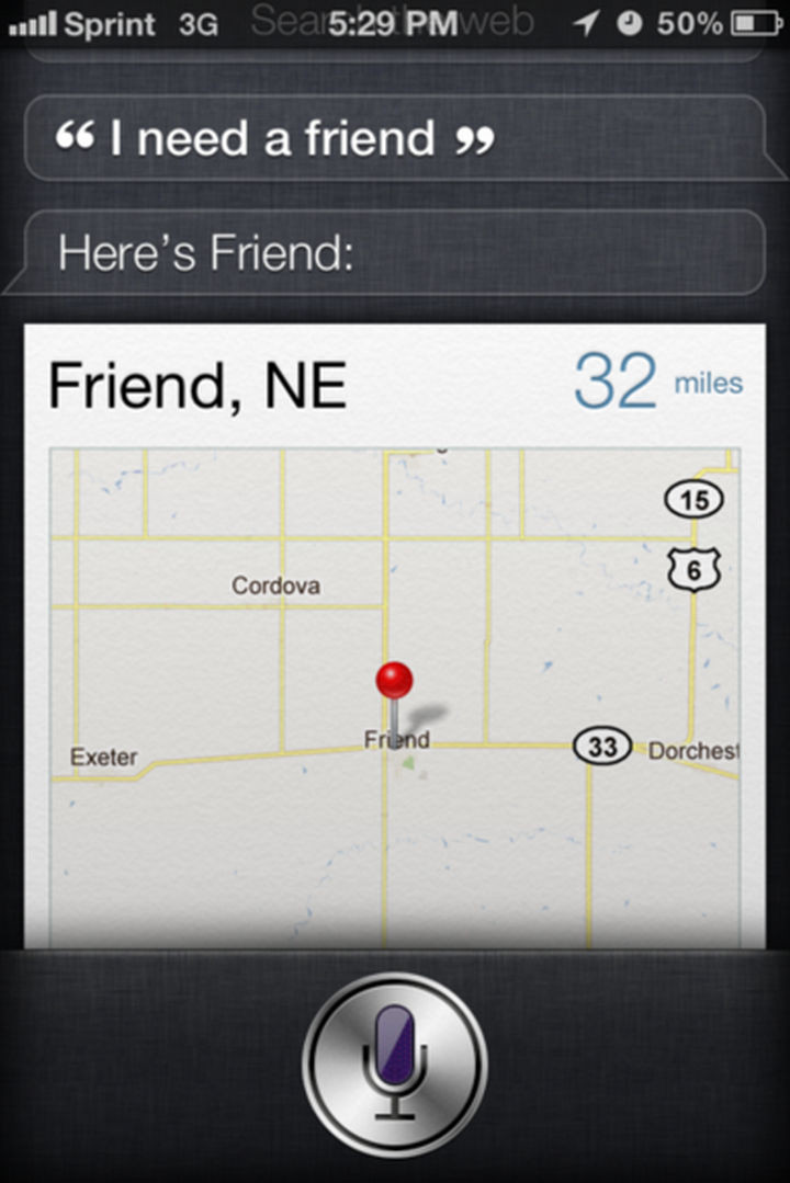 Siri wants to be your only friend, I think.