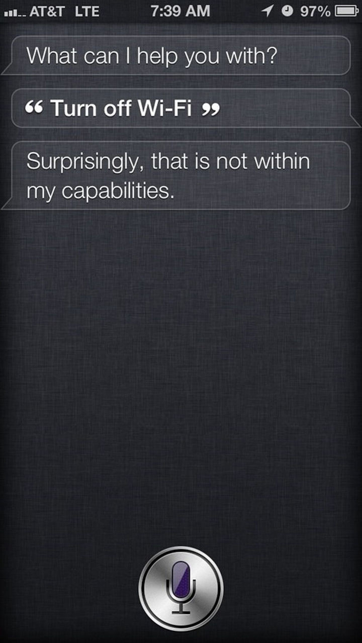 Don't blame Siri, blame Apple.