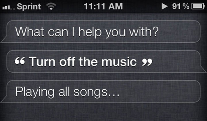 In the end, Siri still does what she wants.
