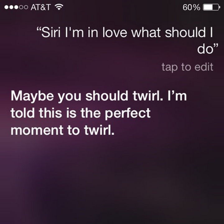 Good advice from Siri.
