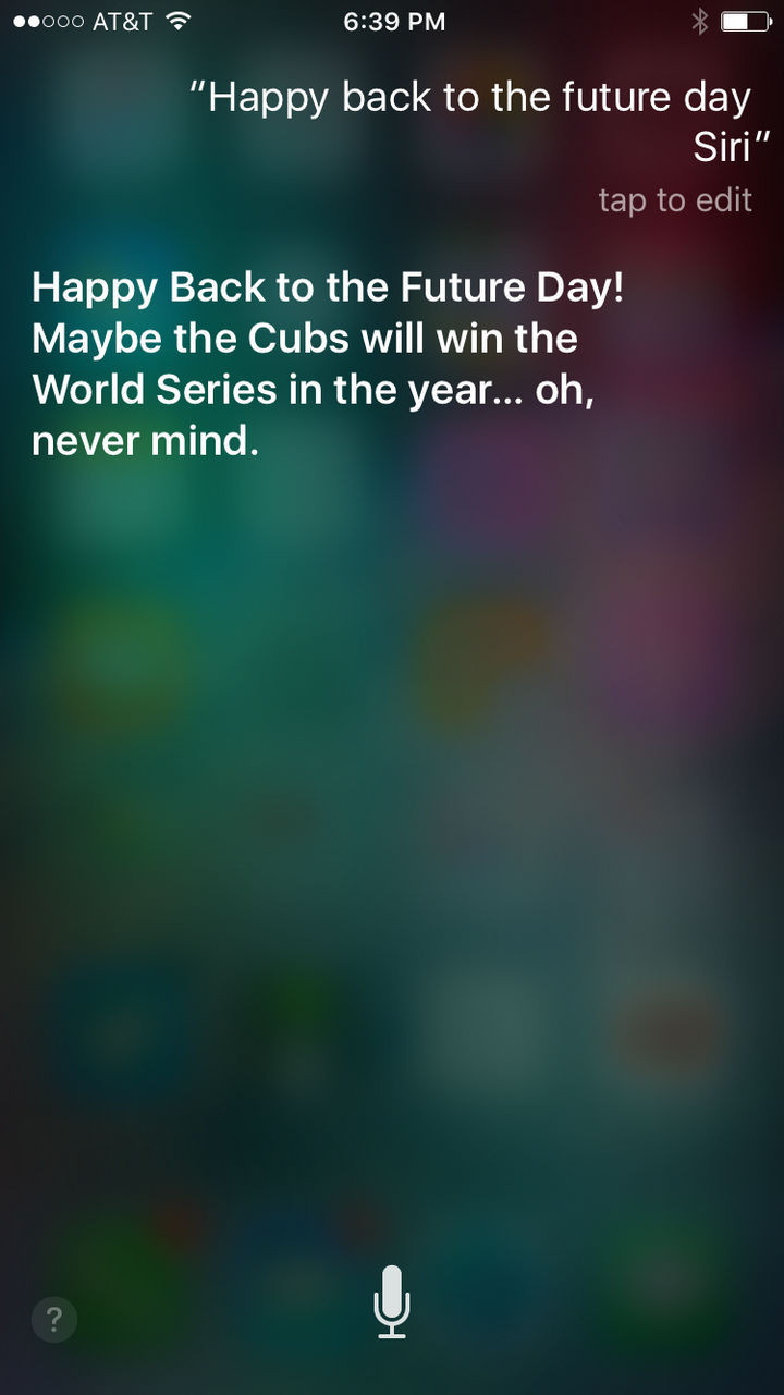 Siri the jokester.