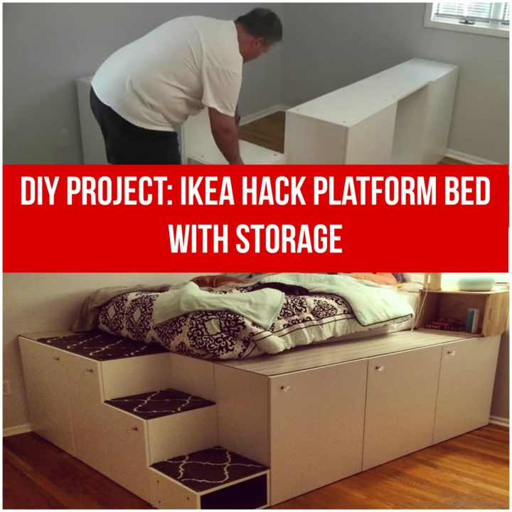 Ikea Hack Diy Platform Bed With Storage From Ikea Kitchen Cabinets