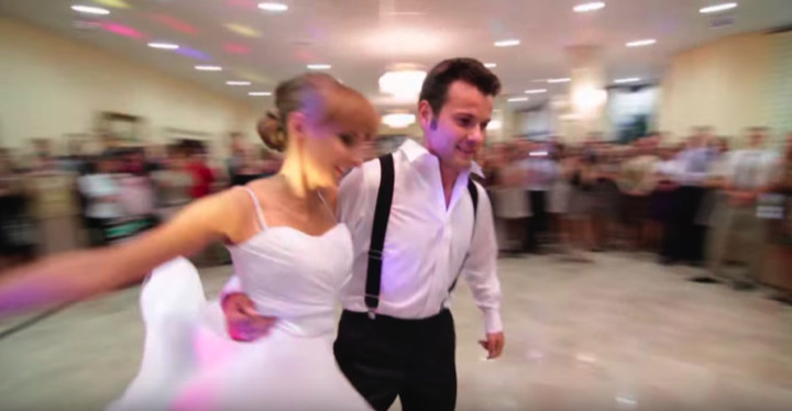 Newlyweds Swing Dance to Benny Goodman for First Dance.