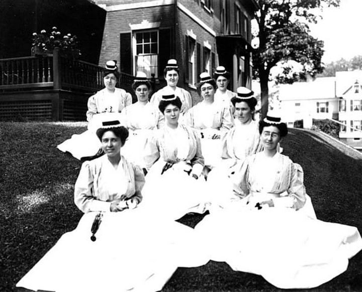 9 Nursing Rules in 1887 - Each nurse on day duty will report every day at 7 a.m. and leave at 8 p.m., except on the Sabbath, on which day she will be off from 12 noon to 2 p.m.
