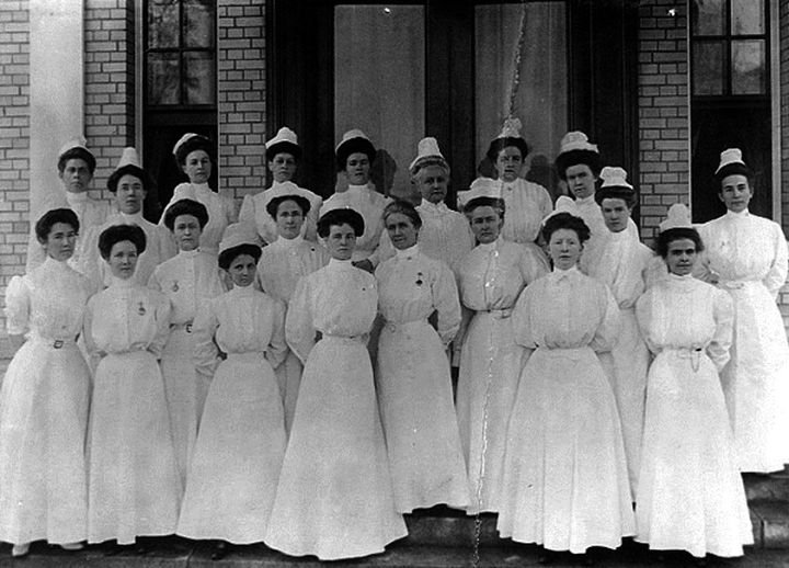 9 Nursing Rules in 1887 - Each nurse should lay aside from each payday a goodly sum of her earnings for her benefits during her declining years, so that she will not become a burden. For example, if you earn $30 a month, you should set aside $15.