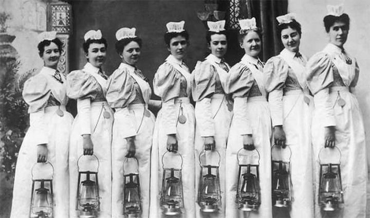 9 Nursing Rules in 1887 - Any nurse who smokes, uses liquor in any form, gets her hair done at a beauty shop or frequents dance halls will give the director of nurses good reason to suspect her worth, intentions and integrity.