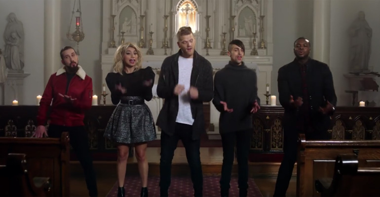 Pentatonix Sings This Popular Christmas Song in a Beautiful Church and Their Performance Is Amazing