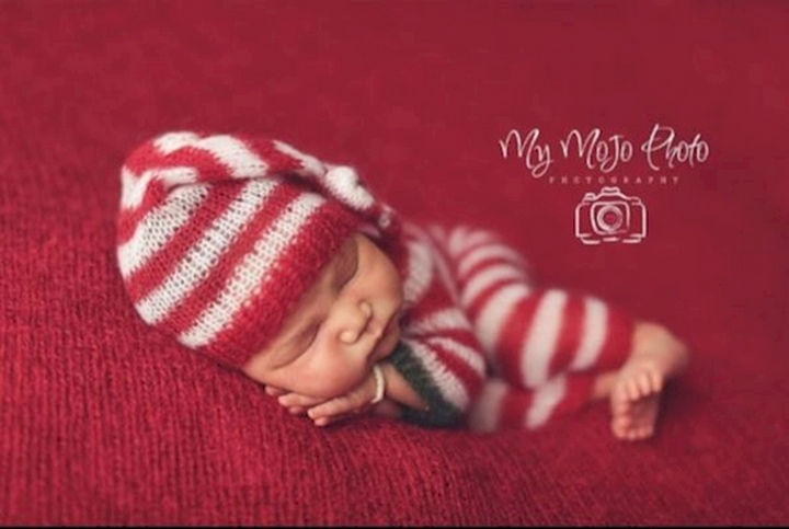 13 Cute Babies Wearing Christmas Outfits - All snuggled up for a cold winter's night.