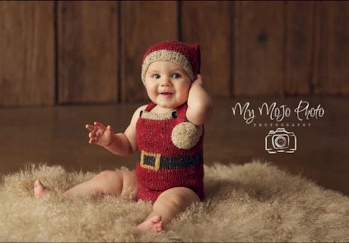 13 Cute Babies Wearing Christmas Outfits - Ready for a visit from St. Nicholas.