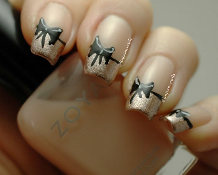 Dorable Jamberry Nails French Tip Bows Festooning - Nail Art Design ...