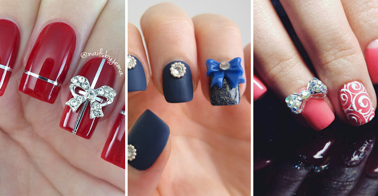 18 Perfectly Manicured Bow Nails That Are as Pretty as a Bow