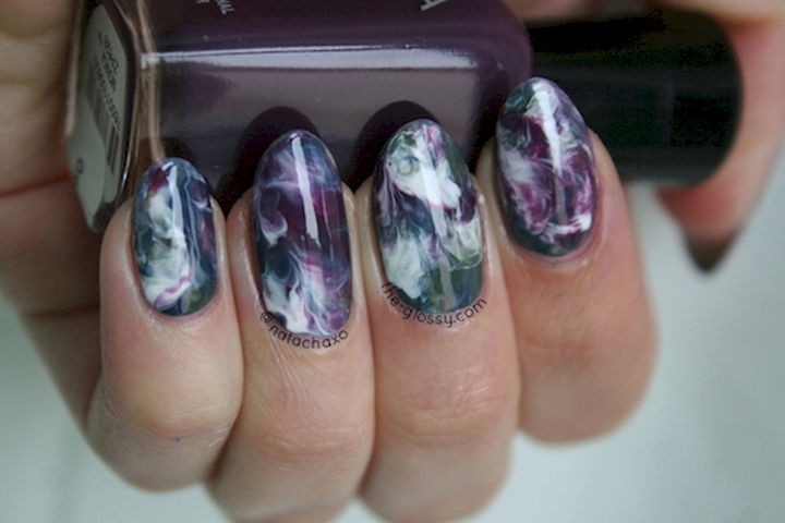 22 Purple Nail Designs - Get lost in these dreamy, marble nails.