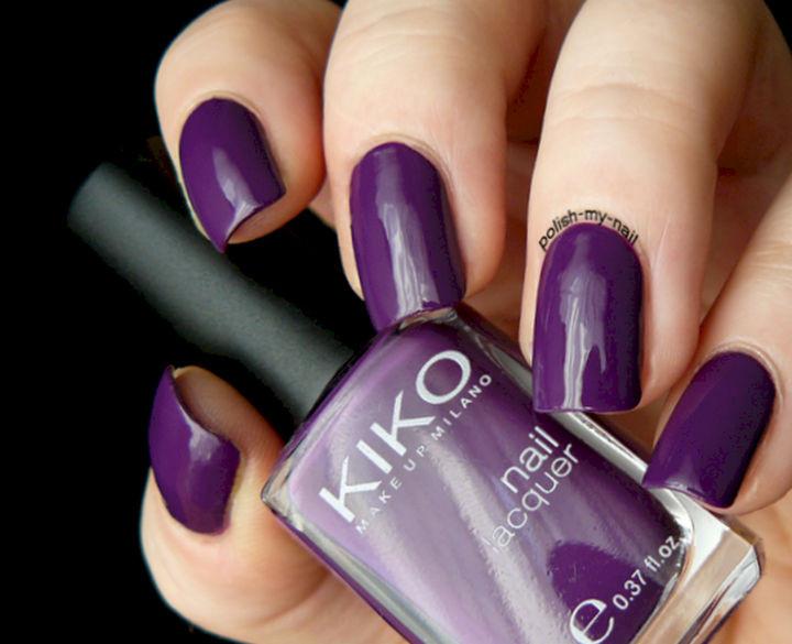 22 Purple Nail Designs - Sometimes, simple is best.