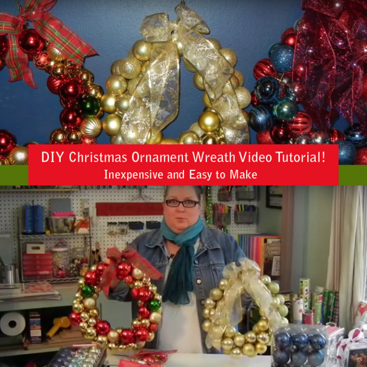 DIY Christmas Wreath Tutorial Is Inexpensive and Very Easy to Make.