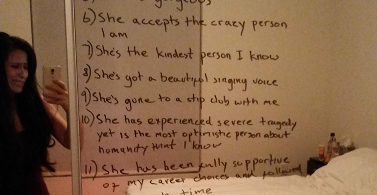 His Wife Was Depressed so He Wrote down 15 Things He Loves About Her.