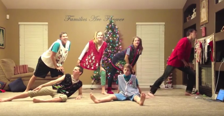 Orgill Family Dances to All I Want For Christmas Is You Xmas 2012.