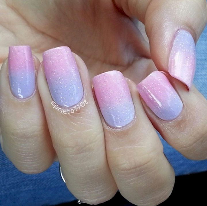 Cotton Candy Satin Fingernail Polish: 17 Cotton Candy Nails And Manicures That Look So Sweet