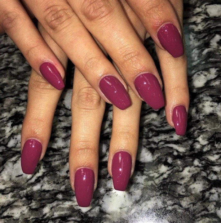 17 Extravagant Mauve Nail Manicures - Mixing it up with pink.