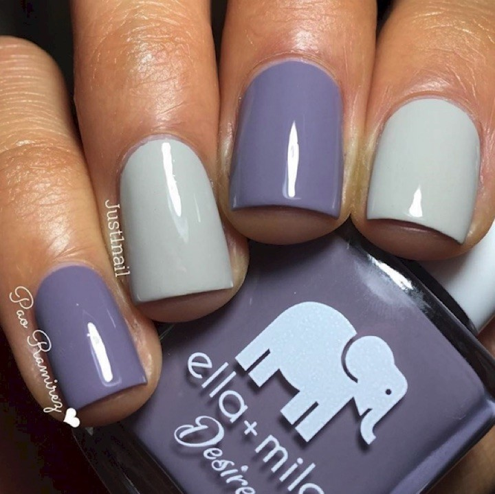 17 Extravagant Mauve Nail Manicures - Mauve looks great with so many other colors!