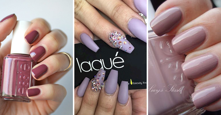 17 Extravagant Mauve Nail Manicures You Are Going to Love. #14 Is Beautiful!