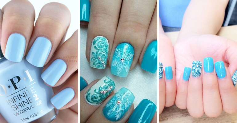 Red Blue Nail Designs