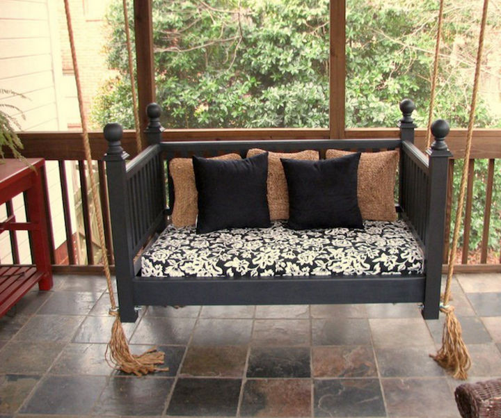 19 Ways to Repurpose Baby Cribs - Construct a baby crib swing.