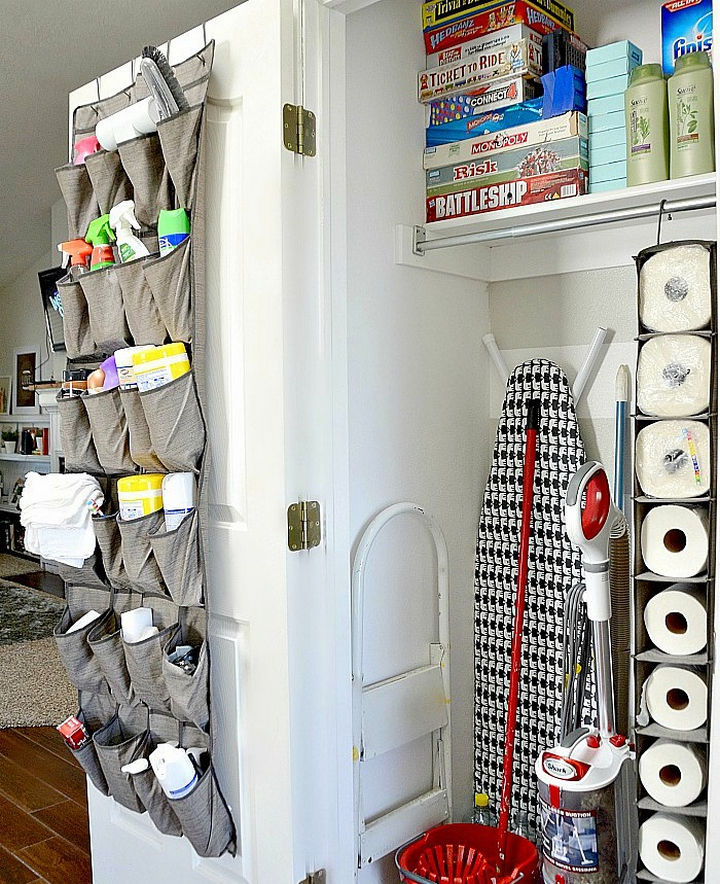 21 Clever Shoe Organizer Ideas   Clean Up Your Cleaning Supply Closet.