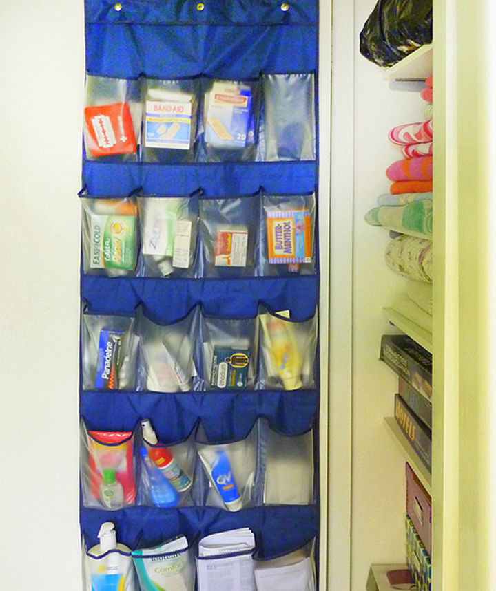 21 Clever Shoe Organizer Ideas - Quickly find first aid supplies.
