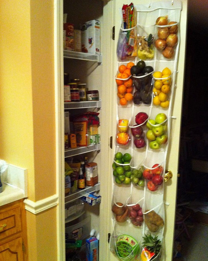 21 Clever Shoe Organizer Ideas - Store fruits and vegetables in the pantry!