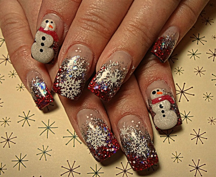 39 winter inspired nail designs that as beautiful as fresh fallen snow 39 winter nails everybody likes a snow day prinsesfo Gallery