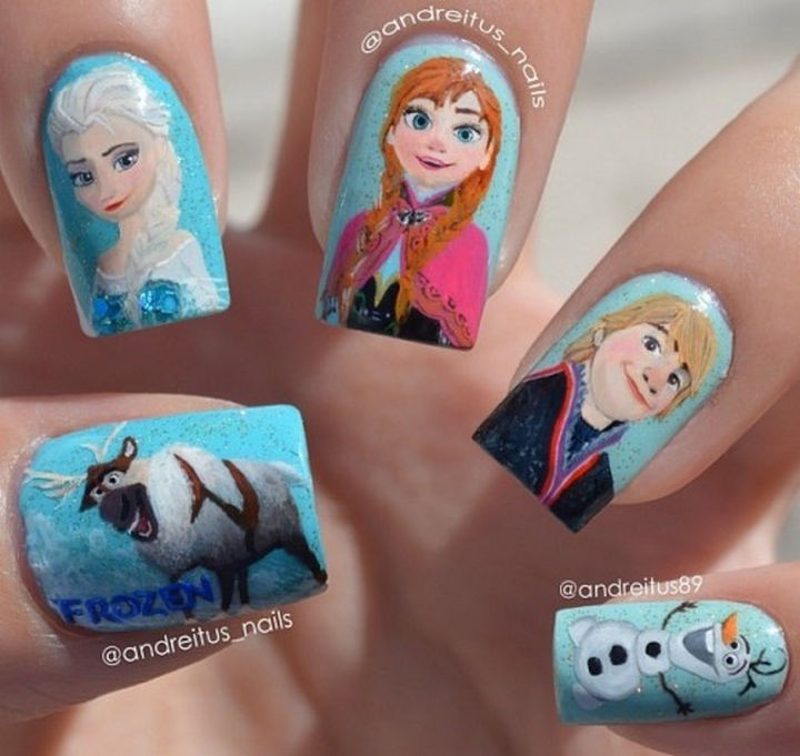 39 Winter Nails - Frozen fans unite!