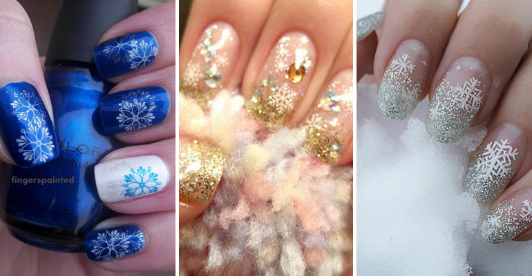 39 Winter Inspired Nail Designs That as Beautiful as Fresh Fallen Snow.