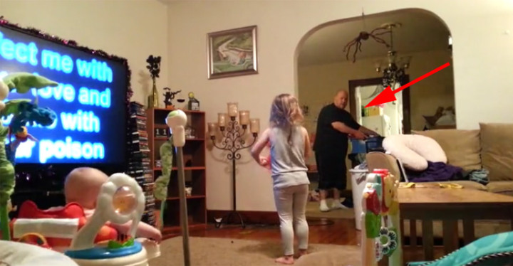 Dad Gets Caught Dancing to Katy Perry While Watching the Kids.